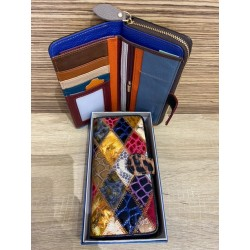 CARTERA MULTICOLOR EN PIEL MF1011