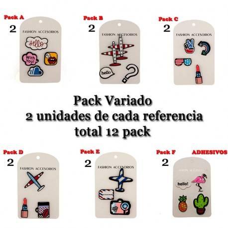 JUEGO PINES ADHESIVOS PACK F